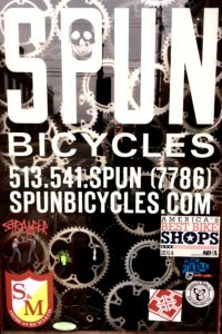 Spun Bicycles window sign