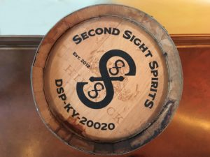 Second Sight Spirits barrel