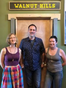 The Distiller host Brandon Dawson with Beth Graves and Christie Goodfellow