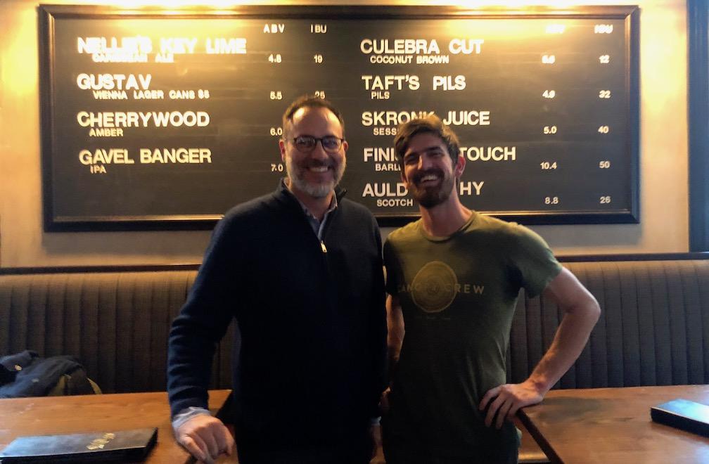 The Distiller host Brandon Dawson with Django Kroner