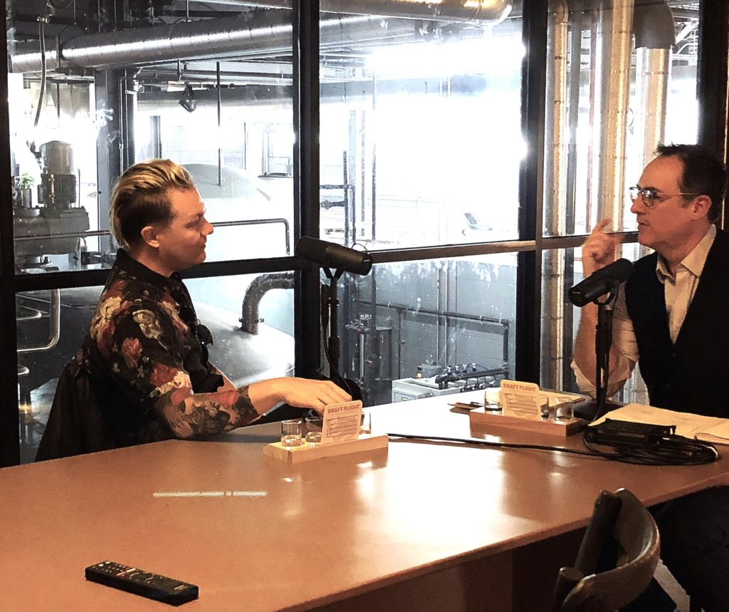 The Distiller podcast recording with White Whale Tattoo artist Jeremiah Griswold