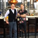 The Distiller Podcast host Brandon Dawson with White Whale Tattoo owner Jeremiah Griswold
