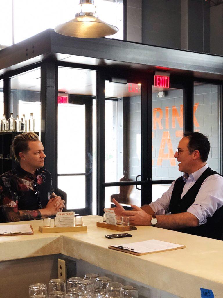 The Distiller host Brandon Dawson with Jeremiah Griswold at Karrikin Spirits.