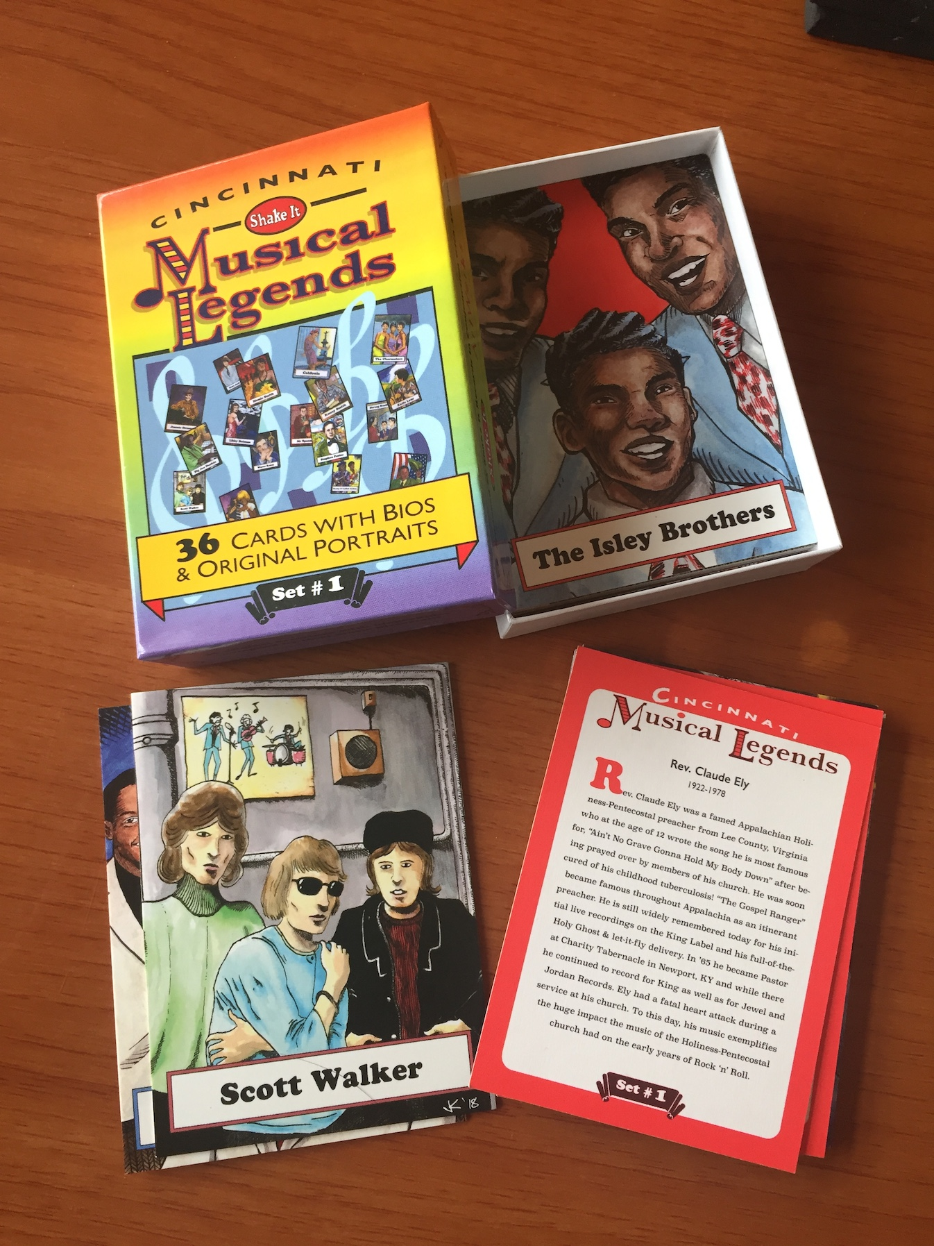 ShakeIt Records new Cincinnati Musical Legends trading cards