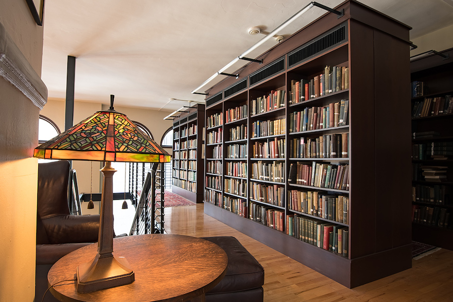 A cozy reading nook inside the Mercantile Library in Cincinnati