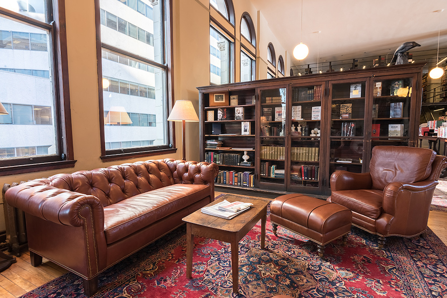 A comfortable reading area inside the Mercantile Library in Cincinnati Ohio