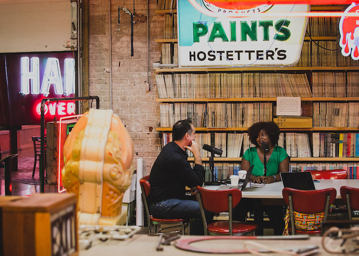 The Distiller Podcast with comedian Luna Malbroux at The American Sign Museum