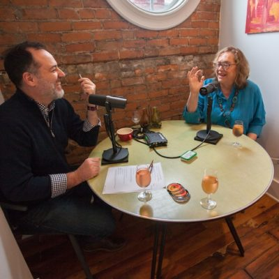 Distiller Podcast host Brandon Dawson interviews Cincinnati Enquirer food writer Polly Campbell